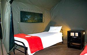 camping kruger safari tent interior