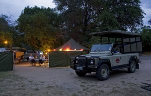 camping kruger safari dusk in the kruger