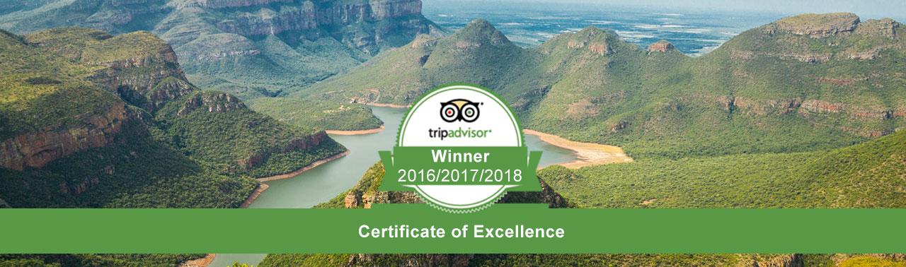 tripadvisor- certificate of excellence